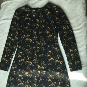 Zara Woman Floral Long Sleeve Dress Sz M